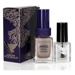 Лак для ногтей «Хрустальное мерцание» + Подготовка к покрытию лаком / Amos Nail Polish Color