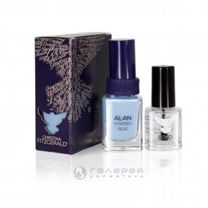 Лак для ногтей «Голубая пудра» + BOND / Alan