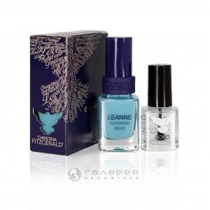 Лак для ногтей «Сияющий голубой» + BOND / Leanne