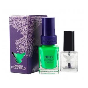 Лак для ногтей «Зеленый мармелад» + BOND / Nelly