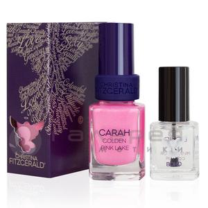 Лак для ногтей «Розовое озеро»+ Подготовка к покрытию лаком / CARAH Golden Pink Lake Lacquer Culture + BOND Prepare for Colour