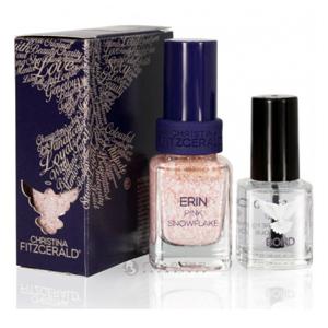 Лак для ногтей «Розовые снежинки» + Подготовка к покрытию лаком / Erin Nail Polish Color