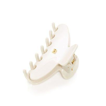 Заколка-краб для волос белая размер М Balmain pince white M