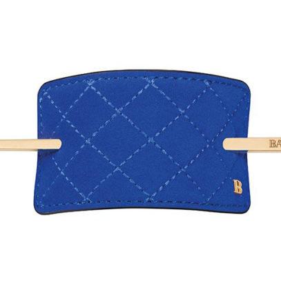 Заколка со шпилькой замшевая синяя Genuine Suede Hair Barrette blue