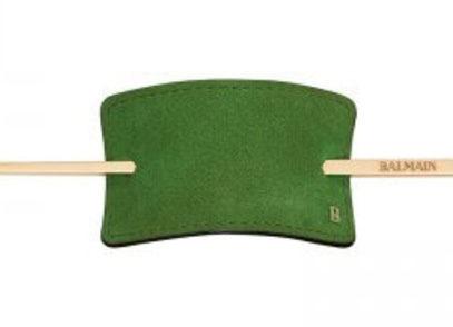 Заколка из зеленой замши Genuine Suede Hair Barrette Green