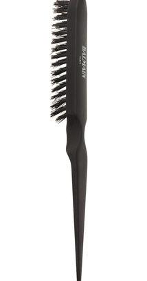 Професcиональная черная расческа Professional Boar Hair Backcomb Brush Black
